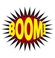 comics cloud with boom word vector image