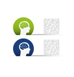 creative profile design vector image vector image