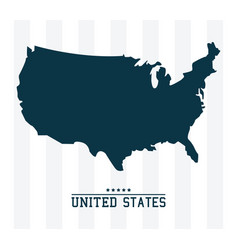 map united states of america landmark design vector image