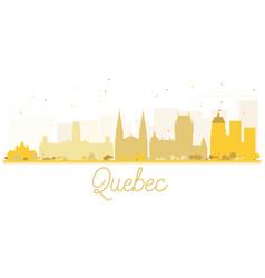quebec city skyline golden silhouette vector image