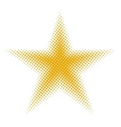Star halftone vector image vector image