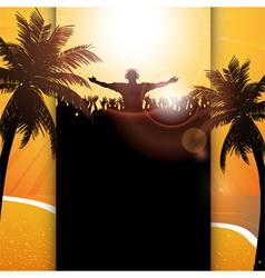 Summer festival panel background vector image