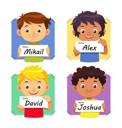 Boys Name 1 vector image vector image