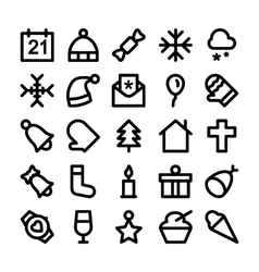 Christmas Icons 1 vector image vector image
