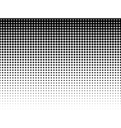 Halftone background Black-white vector image