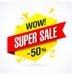 super sale poster banner background big sale vector image vector image