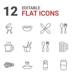 12 menu icons vector image