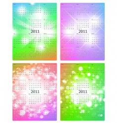2011 calendar templates vector image
