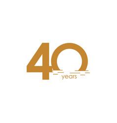 40 years anniversary celebration sunset template vector