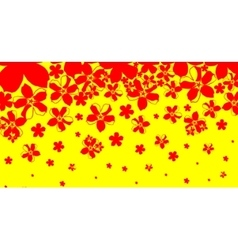 abstract background from red flowers vector image
