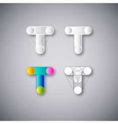 Abstract combination of letter t vector