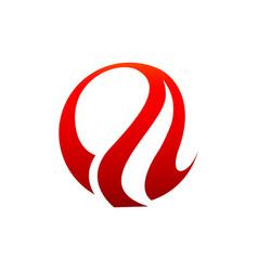 abstract flame logo template fire logo design vector image