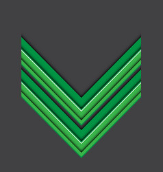 Abstract green white line arrow 3d on gray blank vector