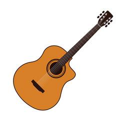 Acoustic guitar icon vector