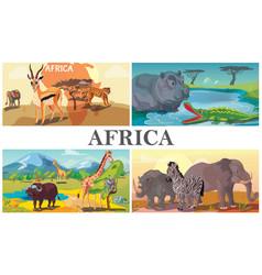 African safari animals composition vector