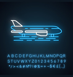 Airport outside neon light icon vector
