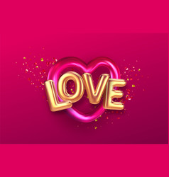 balloons inscription love on background vector image