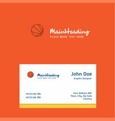 basketball logo design with business card vector image