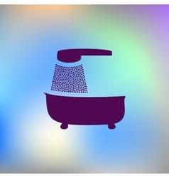 bath icon bath vector image