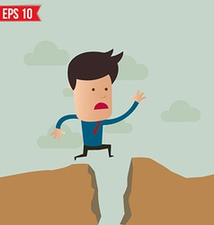 Business man jump over the hill - - EPS10 vector