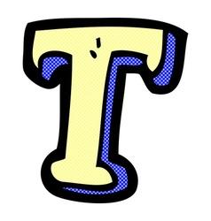 Comic cartoon letter T vector