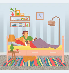 dad reading tale to little daughter spends time vector image