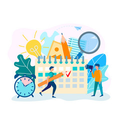 deadline at the office teamwork and workflow vector image