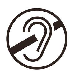 Deaf icon vector