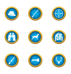 Determination icons set flat style vector