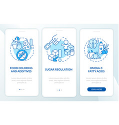 Diet for people with adhd onboarding mobile app vector