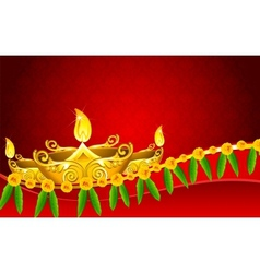 Diwali Diya vector image
