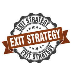 Exit strategy stamp sign seal vector