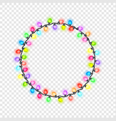 Festive circular glowing garland vector