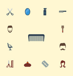 Flat icons hairstyle hairdresser female and vector