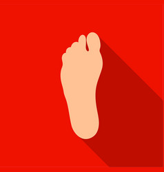 foot icon in flat style isolated on white vector image