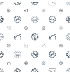 Forbidden icons pattern seamless white background vector
