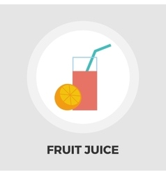 Fruit juice flat icon vector