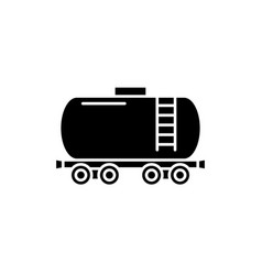 fuel tank black icon sign on isolated vector image