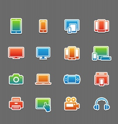 Full color device symbol icon set vector image
