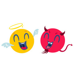 Funny and angry smiles vector