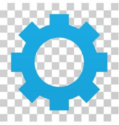 Gear gradient icon vector