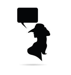 girl with speech bubble vector image