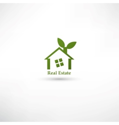 Green real estate concept design vector image