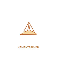 Hamantaschen concept 2 colored icon simple line vector