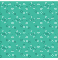 happy labor day green pattern background vector image