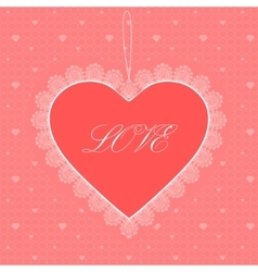heart greeting card vector image