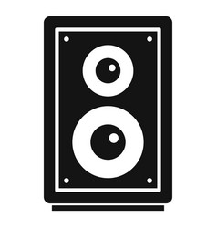 Home music speaker icon simple style vector