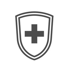 immune shield symbol vector image