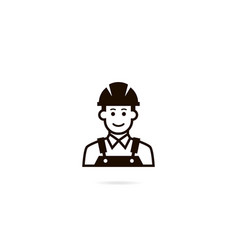 Industrial worker icon a man in a helmet vector