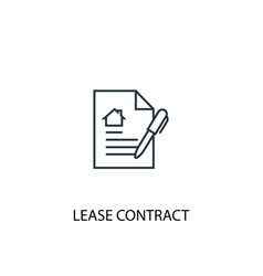 Lease contract concept line icon simple element vector